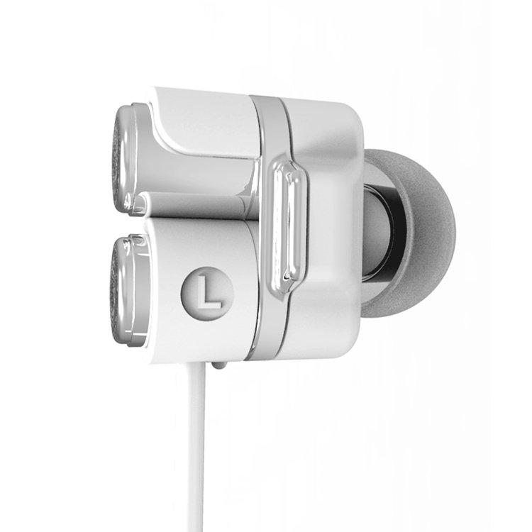 MOE SS01 (WHITE) DUAL DYNAMIC DRIVER IN EAR EARPHONE & HEADPHONE