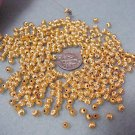 14/20 18kgf 4mm Gold Filled Round Hollow Corrugated Beads Jewelry supplies, Beading Supplies, DIY