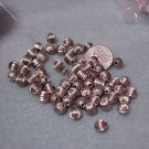 Corrugated 7mm Round Bead Silver Fluted Beads Jewelry and Beading Supplies, DIY