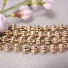 Spacer Beads 8mm Gold Plated Lanturn Metal Jewelry Supplies, Beading Supplies, DIY