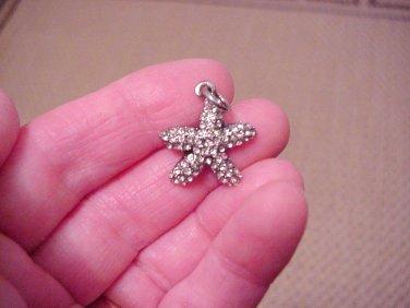 Starfish Pendant, Preciosa Crystals, Nautical, 24mm x 21mm w/Ring Jewelry and Beading Supplies DIY