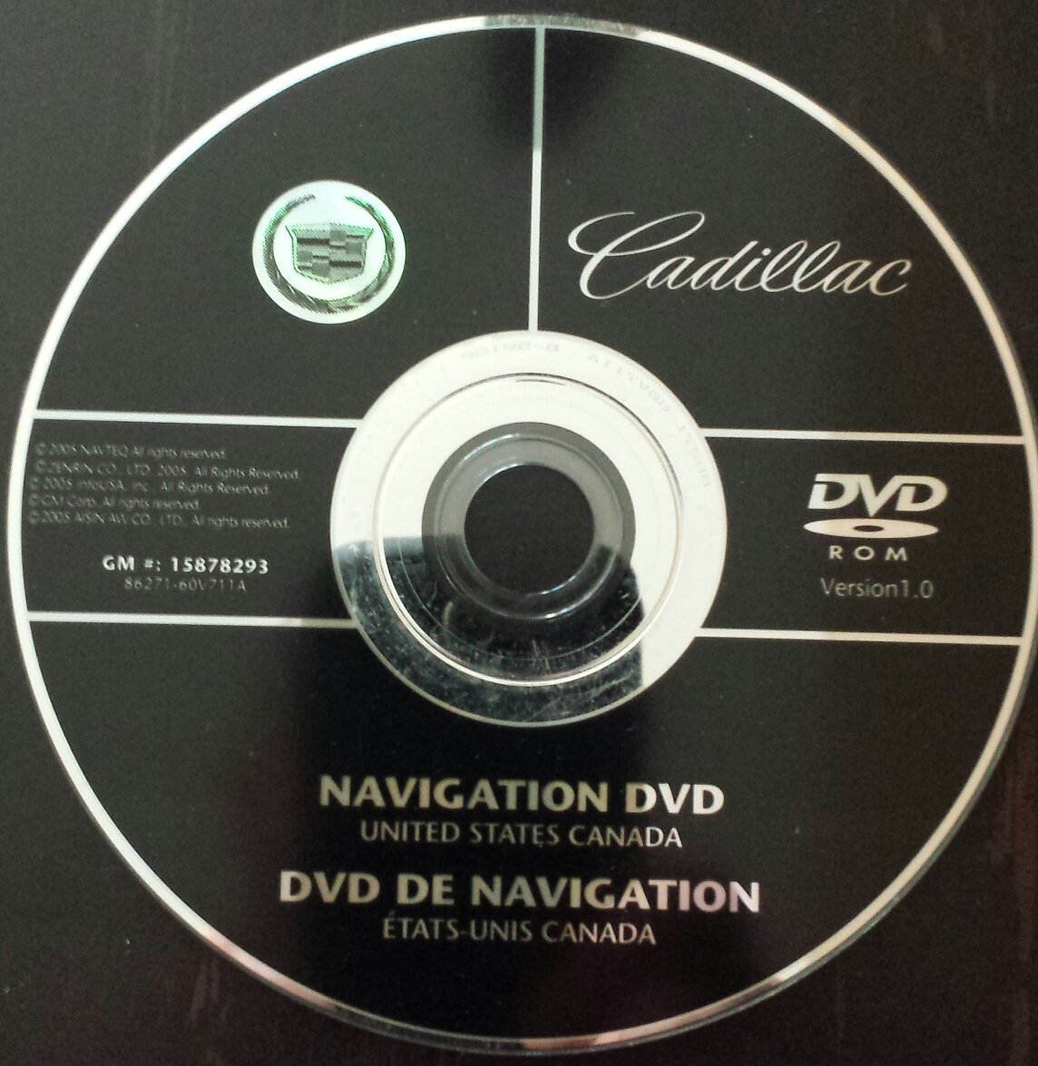 2007 2008 2009 CADILLAC ESCALADE NAVIGATION DISC DVD CD 15878293 ...