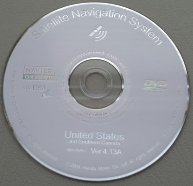 ACURA RL MDX Navigation System GPS Map DVD Disc Disk BMAO Version - Acura navigation dvd