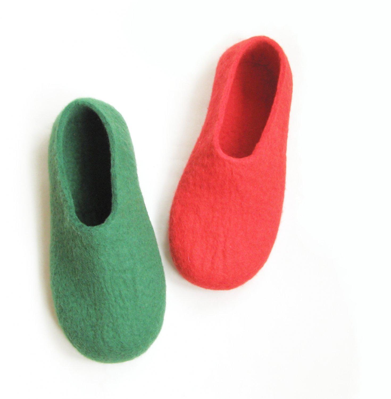 Men's Wool Slippers Santa Claus. All sizes for Men