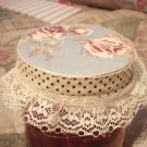Shabby Chic Romantic Victorian Vintage Jar