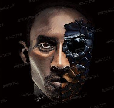 huge selection of 19d36 06222 NBA Los Angeles Lakers Kobe Bryant   Black Mamba Drawing