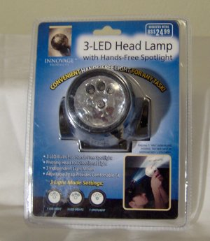 Innovative 3-LED Head Lamp