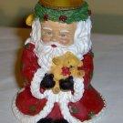 Santa Candlestick Holder