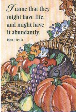Harvest Prayer Card