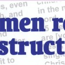 """Real Men Read the Instructions"" Bumper Sticker"