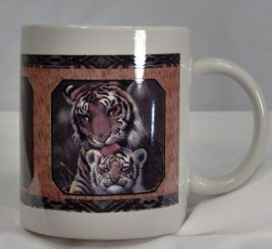 Tiger Mom and Cub Ceramic Mug