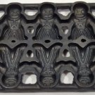Cast Iron Gingerbread Man Cookie Mold