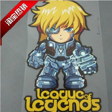 league of legends heat transfer sticker stick on T-shirt sticker