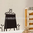 Owl blackboard wall decal
