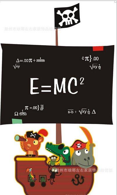 Funny pirate blackboard decal
