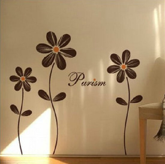 romantic flowers wall tattoo decal