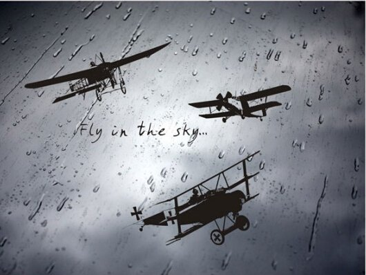 Fly in the sky plane Wall Sticker