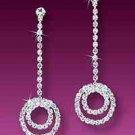 Double Circle Rhinestone Earrings