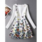 Black and White Butterfly Dress