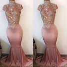 Mauve sleveless Prom Dress
