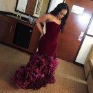 Burgandy Sleeveless Prom Dress