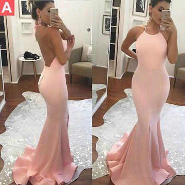 Lovely Peach Prom Dress