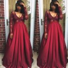 Lovely Red Flair Prom Dress