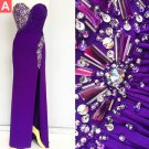 Beading Front Split Sheath Prom Dress