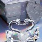 Crystal Kissing Swans Wedding Favor