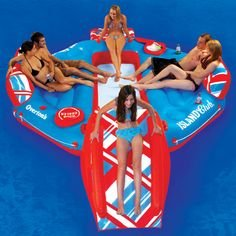 Red and White 8 Person Float