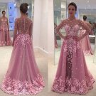 Sheer Pink Prom Dress