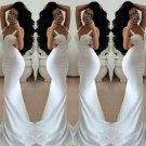 White Silk Prom Dress