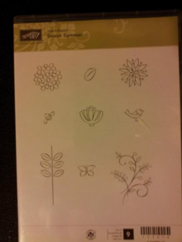 STAMPIN UP LOT - CLEAR MOUNT - SWEET SUMMER - SALE-A-BRATION SET 2012