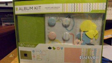american crafts baby album scrapbook kit