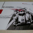 2013 AUDI R18 E-Tron 10 Victories 12 Hours of Sebring Poster