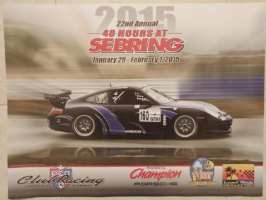 2015 Porsche Club of America 48 Hours at Sebring Poster pca