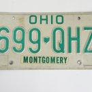 Ohio License Plate Montgomery Country