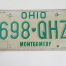 Collectible Ohio License Plate 698 QHZ