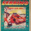 1995 IMSA 12 Hours of Sebring Ferrari Poster