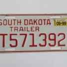 South Dakota Trailer License Plate