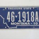 2010 Montana Treasure State License Plate