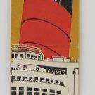 Vintage Cunard White Star Line Ocean Liner Matchbook Cover