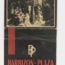 Barbizon Plaza Skyscraper Hotel New York City Vintage Matchbook Cover