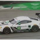 2016 Aston Martin Vantage GTD Racing Team Hero Card