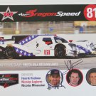 Autographed IMSA Dragon Speed Nissan Oreca LMP2 Racing Team Hero Card