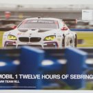 2016 IMSA BMW M6 GT3S Team RLL Racing Hero Card 12 Hours of Sebring BMW Racing