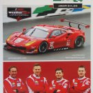 2016 Risi Competizione Ferrari 488 GTLM Racing Team Hero Card