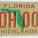 Original Highlands County Florida License Plate