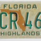 1986 Florida License Plate