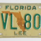 86 Lee County Florida License Plate